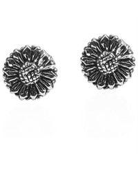 Aeravida   Black Zebra Flower Clip On Earrings   Lyst