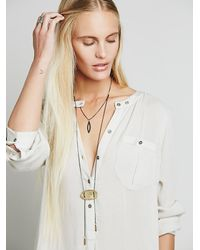 Free People - Metallic Golden Sun Tiered Bolo - Lyst