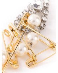 Tom Binns | Metallic 'punk Chic' Pearl Earrings | Lyst