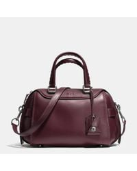 COACH | Metallic Ace Satchel In Glovetanned Leather | Lyst