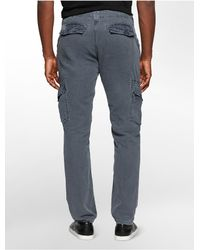 Calvin Klein | Blue Jeans Linen Cotton Blend Cargo Pants for Men | Lyst