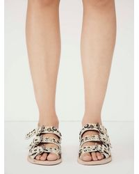 Free People - Natural Faryl Robin + Womens Copper Vail Slide Sandal - Lyst