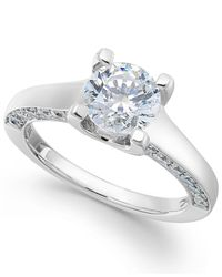 X3 - Metallic Certified Diamond Engagement Ring In 18k White Gold (2 Ct. T.w.) - Lyst