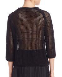 Tess Giberson - Black Macrame Sweater - Lyst
