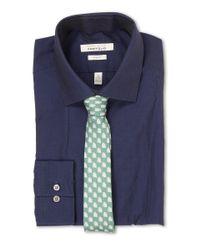 Perry Ellis - Blue Slim Fit Tonal Stripe Shirt for Men - Lyst