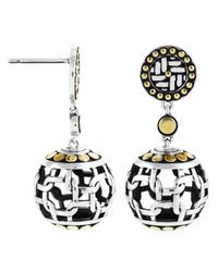 John Hardy | Metallic Silang Dot Ball Earrings | Lyst