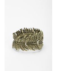 Urban Outfitters - Metallic Peacock Feather Bracelet - Lyst