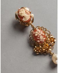 Dolce & Gabbana - Pink Cameo Earrings - Lyst