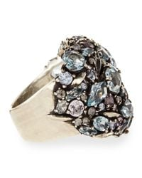Alexis Bittar Fine | Metallic Cool Heather Marquise Multistone Cluster Dome Ring with Diamonds | Lyst