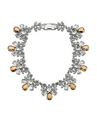 Mews London | Metallic Rose Crystal Collar Necklace | Lyst