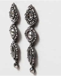 Zara | Metallic Teardrop Earrings | Lyst