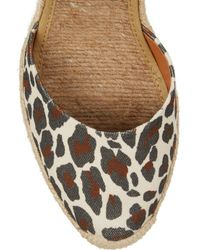 Stella McCartney - Multicolor Leopard-Print Canvas Wedge Espadrilles - Lyst