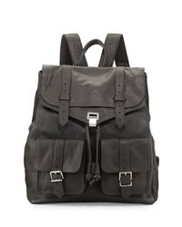 Proenza Schouler | Gray Ps1 Extra-large Leather Backpack | Lyst
