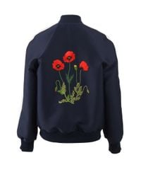Stella McCartney | Blue Lorinda Embroidered Bomber | Lyst