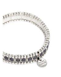 Philippe Audibert | Gray 'wappo' Milgrain Stone Elastic Bracelet | Lyst