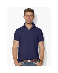 Polo Ralph Lauren | Blue Custom-fit Mesh Polo Shirt for Men | Lyst