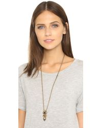 Samantha Wills | Metallic Midnight Rendezvous Pendant Necklace - Antique Gold | Lyst
