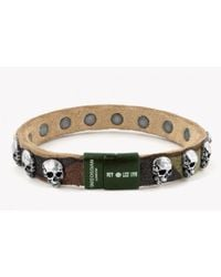 Tateossian - Rt Camouflage Bracelet With Green Clasp for Men - Lyst