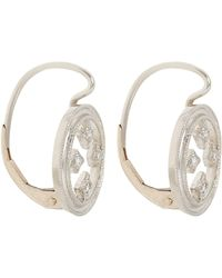 Cathy Waterman | White Women's Drop Earrings | Lyst