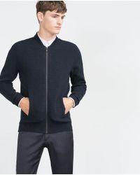 Zara | Blue Structured Jacket for Men | Lyst