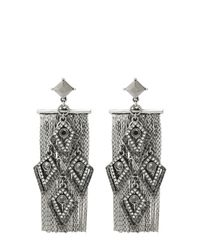 Oasis | Gray Tassel Back Cascase Drop Earrings | Lyst