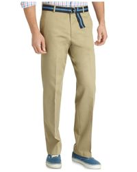 Izod - Natural Madison Straight Fit No-iron Flat Front Chino Pants for Men - Lyst