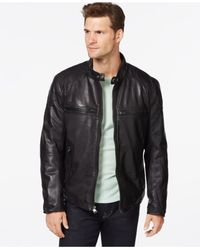 Marc New York | Black Mac Moto Leather Jacket for Men | Lyst