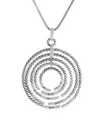 David Yurman - Metallic Willow Pendant With Diamonds On Chain - Lyst