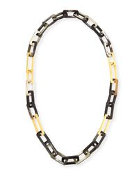 Maiyet | Multicolor Horn And Gold-plated Link Necklace | Lyst