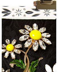 Dolce & Gabbana | Multicolor Vanda Daisy-embellished Brocade Clutch | Lyst
