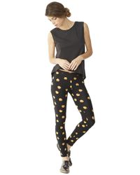 Alternative Apparel - Black Printed Spandex Go-to Leggings - Lyst