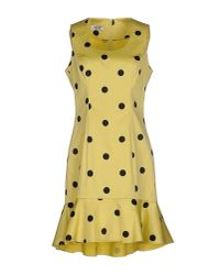 Boutique Moschino | Yellow Short Dress | Lyst