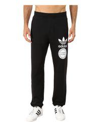 Adidas Originals - Black Street Graphic Sweatpants for Men - Lyst