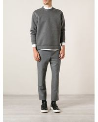 Moncler Gamme Bleu - Gray Tailored Trousers for Men - Lyst