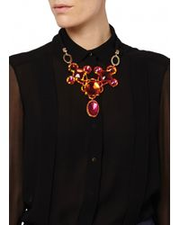 Matthew Williamson | Red Orange Jewelled Crescent Necklace | Lyst