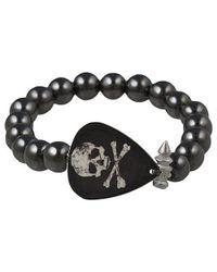 Electric Picks - Black Rock Steady Skull Bracelet - Lyst