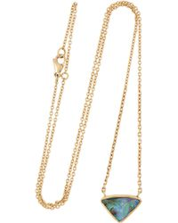 Brooke Gregson | Green 18karat Gold Boulder Opal Necklace | Lyst