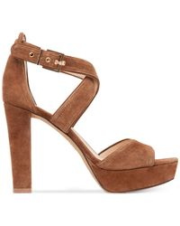 Vince Camuto - Brown Shayla Platform Sandals - Lyst
