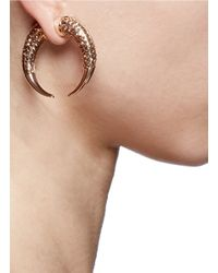 Givenchy | Metallic Double Shark Crystal Magnetic Single Earring | Lyst