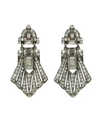 Ben-Amun | Metallic Large Deco Crystal Earrings | Lyst