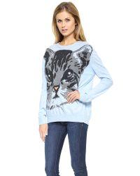 Paul & Joe - Chaton Sweater Sky Blue - Lyst