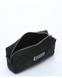 Marc By Marc Jacobs - Black Quilted Nylon Logo Engraved Cosmetic Case - Lyst