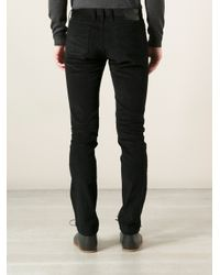 Gucci - Black Textured Straight Leg Trouser for Men - Lyst