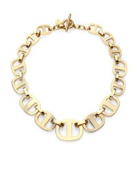 Michael Kors - Metallic Heritage Maritime Large Chain Toggle Necklace - Lyst