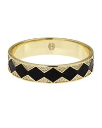 House of Harlow 1960 | Black Gold-Tone Sunburst Bangle | Lyst