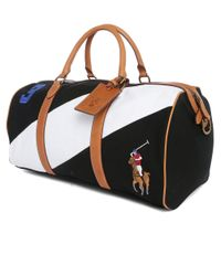 Polo Ralph Lauren | White Two-toned Leather Duffel Bag for Men | Lyst