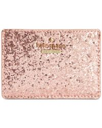 kate spade new york | Metallic Glitter Bug Card Holder | Lyst