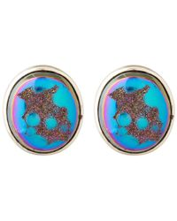 Stephen Dweck - Metallic Silver Druzy Rainbow Oval Earrings - Lyst