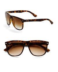 Ray-Ban | Black Flattop Boyfriend Sunglasses for Men | Lyst