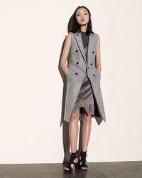Rag & Bone - Gray Faye Wool-blend Long Vest - Lyst